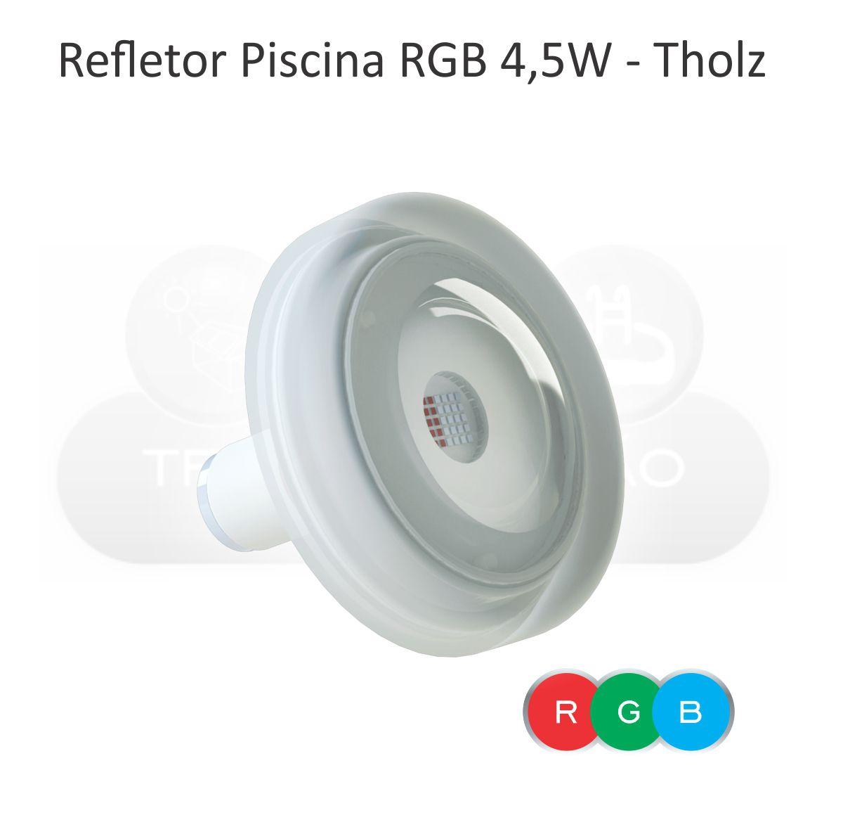 Kit Iluminação Piscina - 2 Leds Rgb 4,5w Tholz + Basic Timer 14w