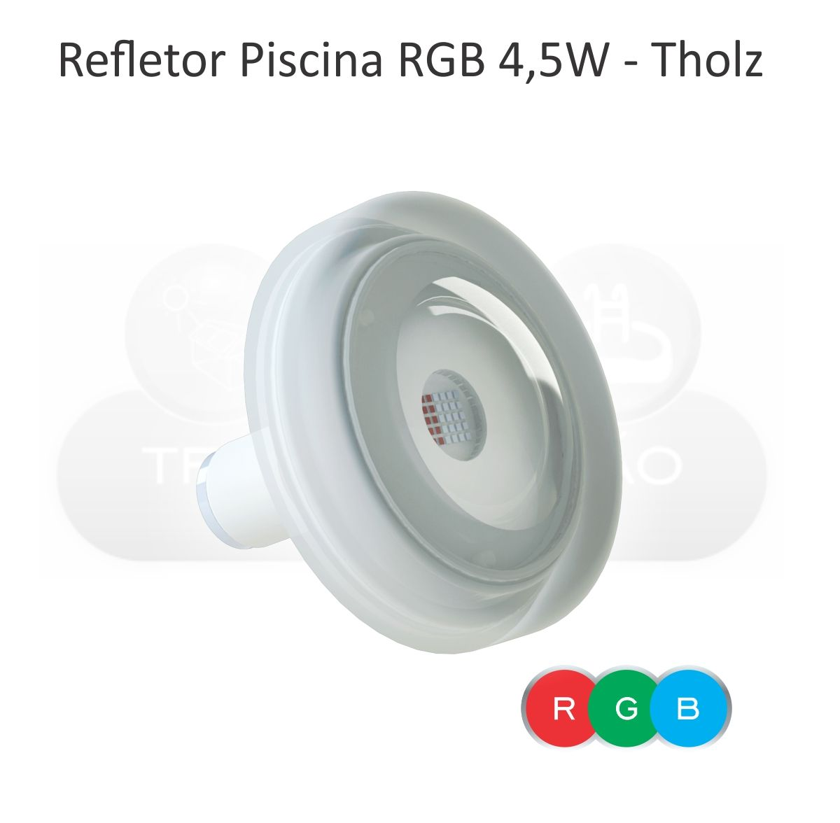 Módulo RGB c/ Controle Touch + 8 - Power LED RGB - Piscina - 4,5W - Cabo 2M