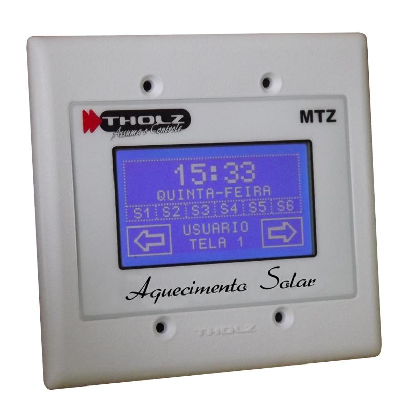 MTZ Aquecimento Solar - MTZ545R - 90~240VCA - P523 - Três saídas de relé: bomba, auxiliar 1 e auxiliar 2