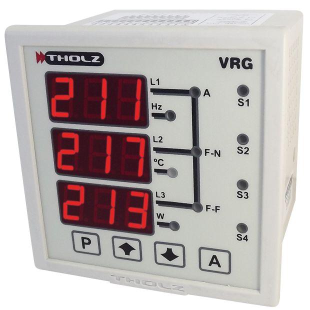 Multimedidor de Grandezas Elétricas - VRG330R 90~240Vca P377
