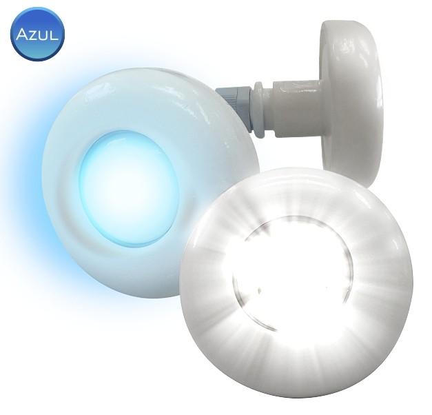 REFLETOR LED AZUL - CABO 2M - 3W