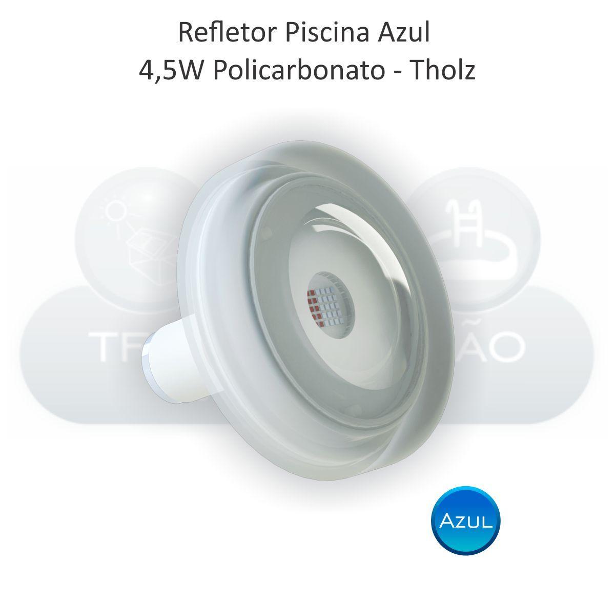 Refletor LED Azul - Cabo 2M - 4,5w