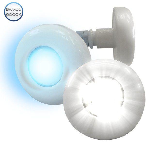 REFLETOR LED BRANCO - CABO 2M - 3W