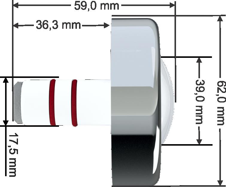Power LED Branco - 6W - 6.000K - Cabo 10M