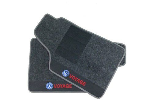 Tapete Vw Voyage Carpete 8mm Base Borracha Pinada Hitto