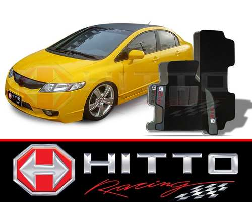 Tapete Carpete 8mm Base Borracha Pinada Honda New Civic