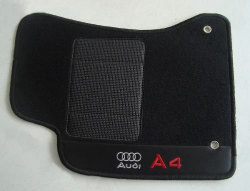 Tapete Audi A6 2001/2004 Carpete 8mm Base Borracha Pinada
