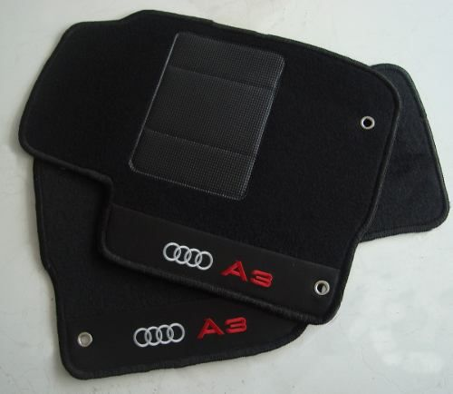 Tapete Audi A6 2005 Carpete 8mm Base Borracha Pinada