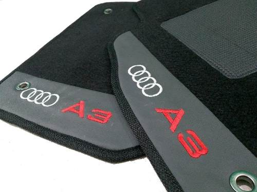 Tapete Audi A3 1998 Todos Carpete 8mm Base Borracha Pinada