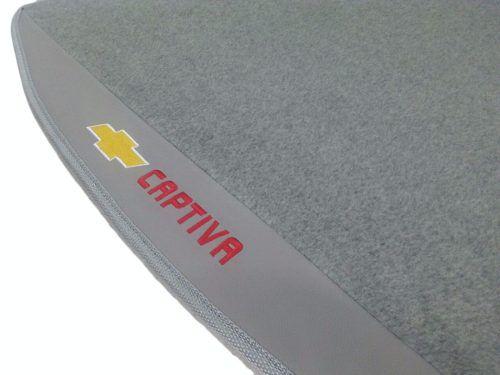 Tapete Carpete Porta Malas Linha Premium 12mm Captiva