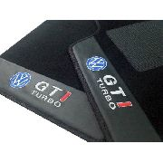 Tapete Golf Gti Turbo Carpete 8mm Base Borracha Pinada Hitto
