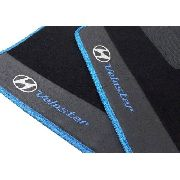 Tapete Hyundai Veloster Carpete 8mm Base Pinada