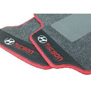 Tapete Hyundai Tucson Carpete 8mm Base Borracha Pinada