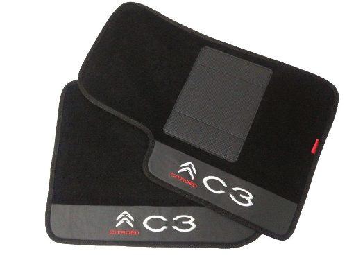 Tapete Citroën C3  Carpete 8mm Base Pinada Hitto