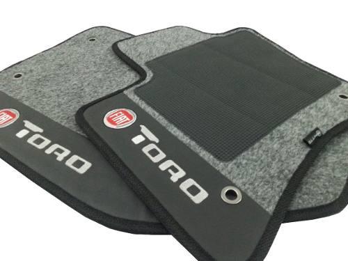 Tapete Fiat Toro Carpete 8mm Base Pinada Hitto O Melhor!