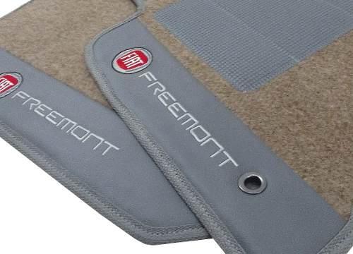 Tapete Fiat Freemont  (7 Lugares) Carpete 8mm Base Pinada