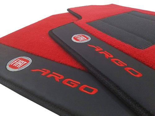 Tapete Carpete Fiat Argo 12MM Premium com Base Pinada