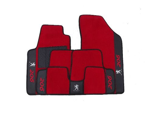 Tapete Peugeot 206 Carpete Premium 12mm Base Pinada