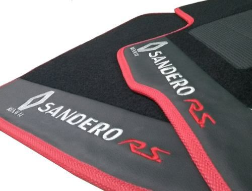 Tapete Sandero Rs Carpete 8mm Base Borracha Pinada