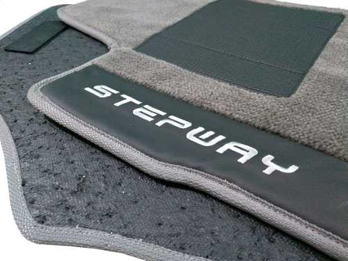 Tapete Sandero Stepway Carpete Premium 12mm Base Pinada