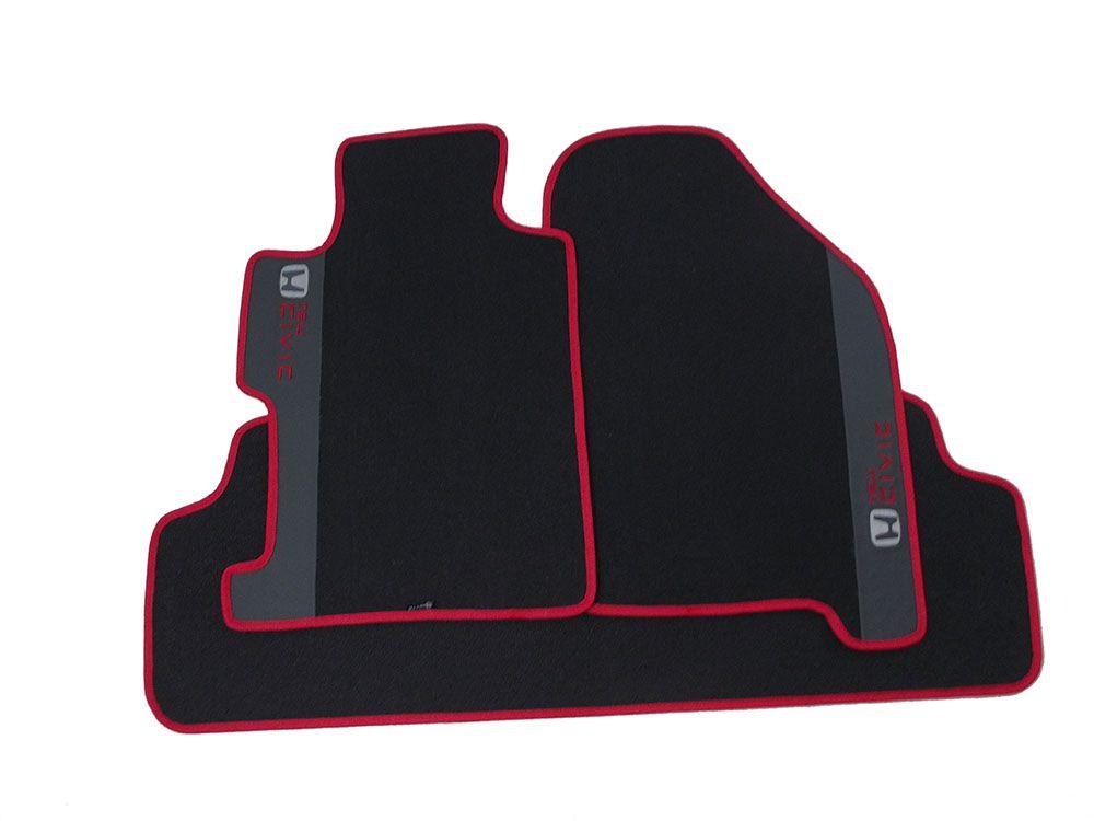 Tapete Carpete Honda New Civic 8mm Base Pinada