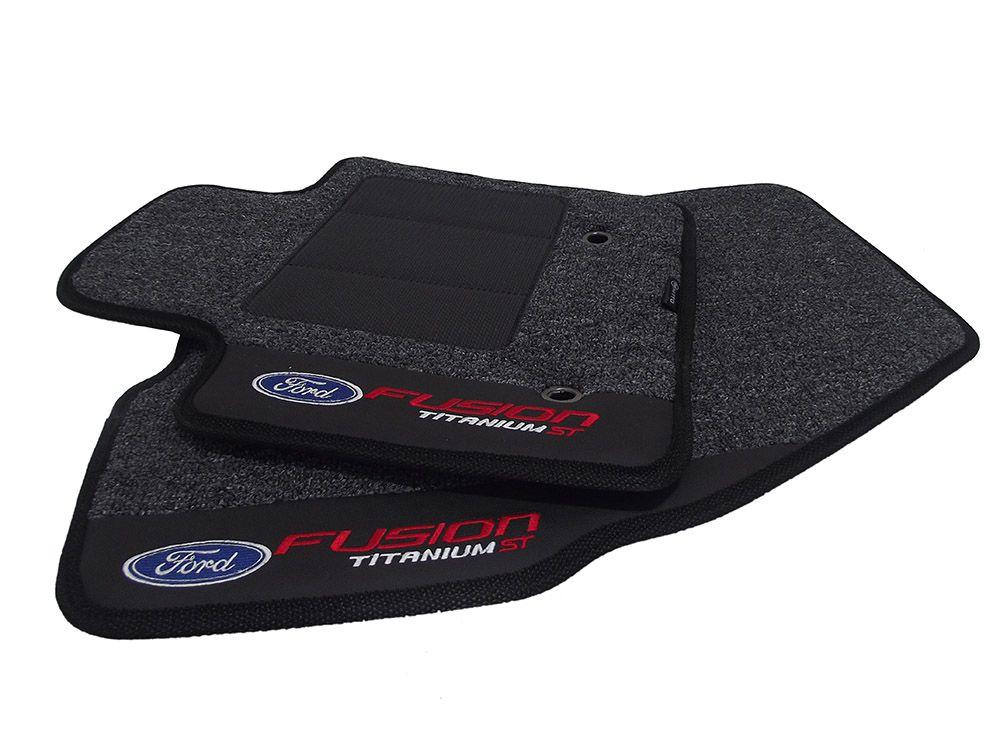Tapetes Ford Fusion Titanium Carpete 12MM Premium base pinada