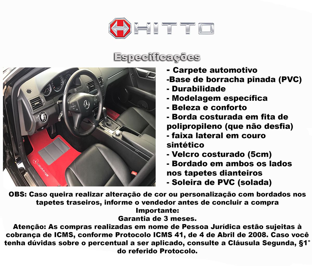 Tapete Volkswagem Amarok  Carpete 8mm Base Pinada