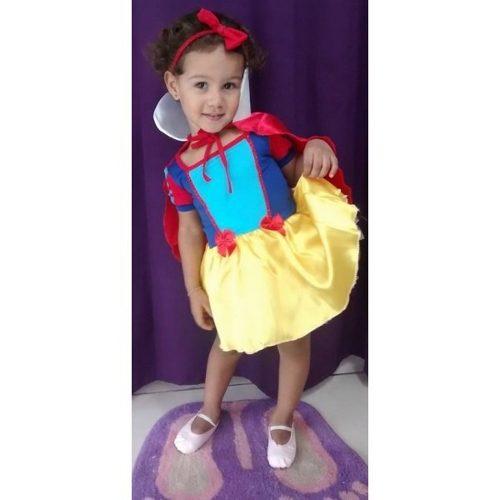 Fantasia Branca De Neve - Princesa Da Disney  Infantil - point da dan�a