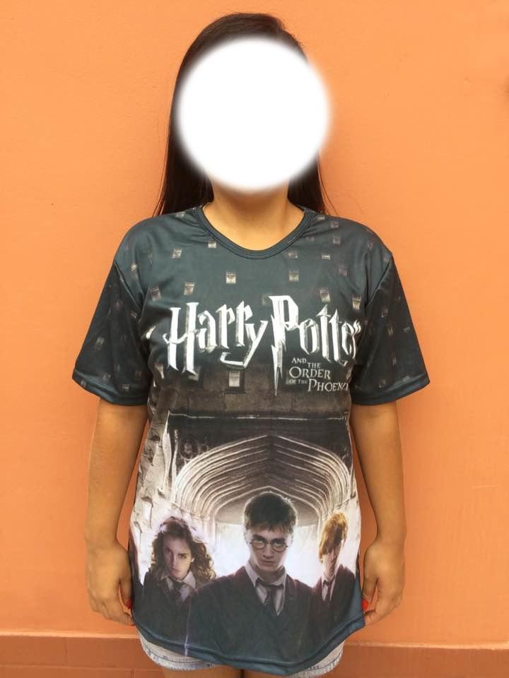 Camisa Harry Potter e a ordem da Phoenix personalizada