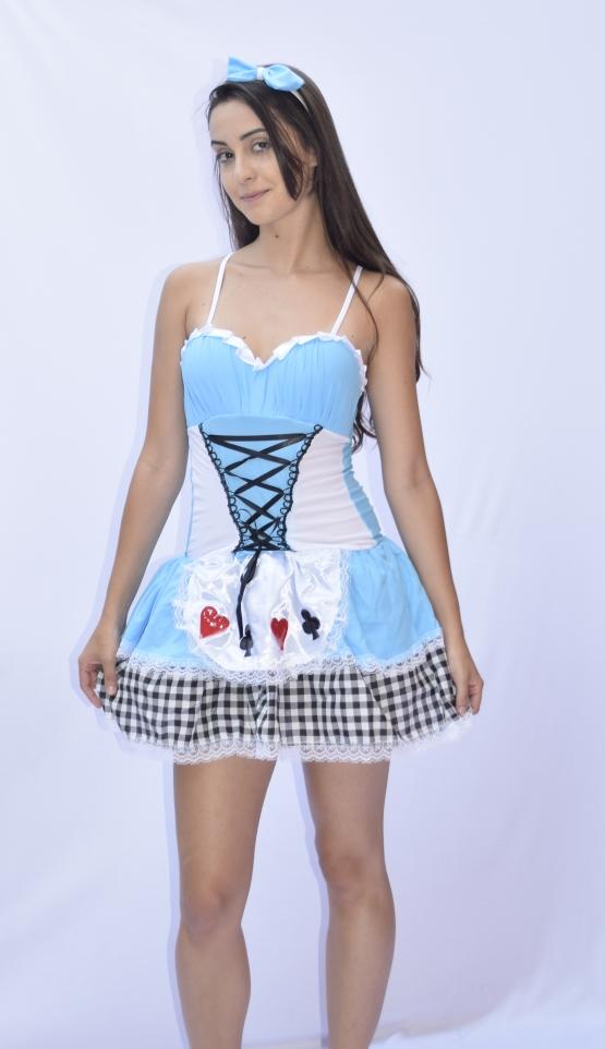 Fantasia Alice No País Das Maravilhas -  Adulto - fantasia para Festa