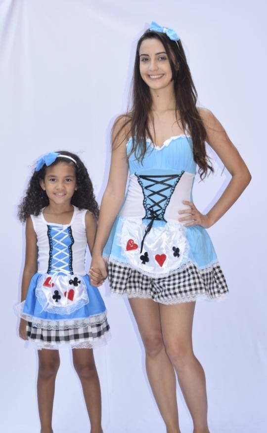 Fantasia Alice No País Das Maravilhas - Infantil - fantasia para festa carnaval point da dança