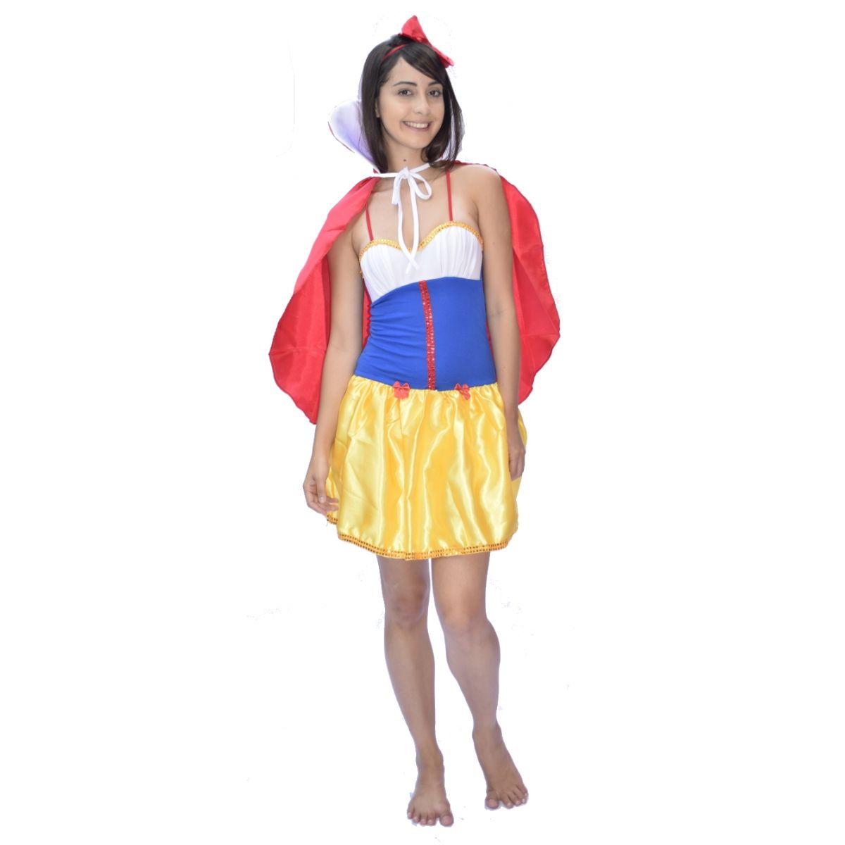 Fantasia Branca De Neve - Princesa Da Disney - Adulto - fantasia para festa carnaval - point da dança