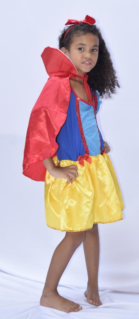 Fantasia Branca De Neve - Princesa Da Disney  Infantil - point da dança