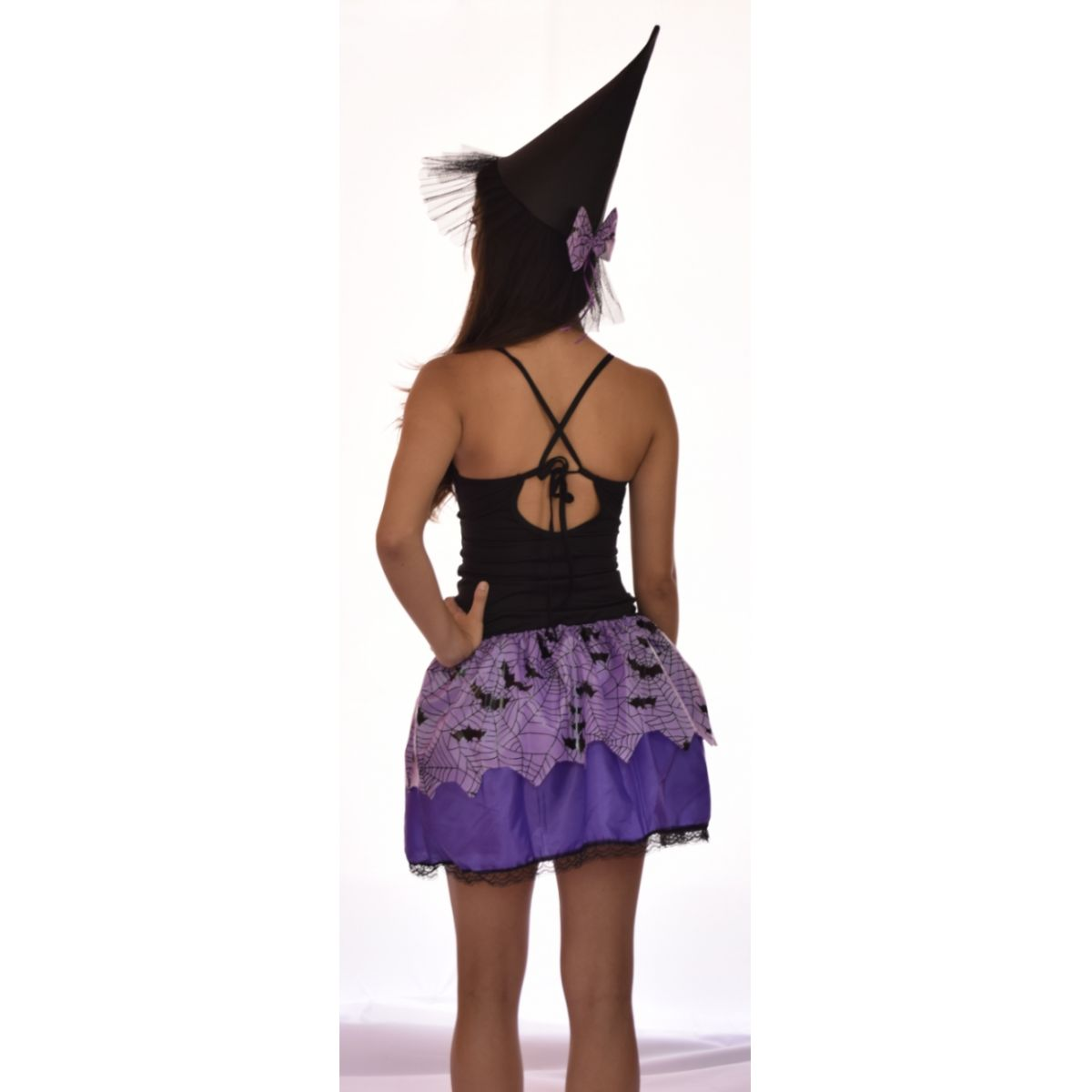 Fantasia Bruxinha Halloween - Point Da Dança - fantasia para festa carnaval