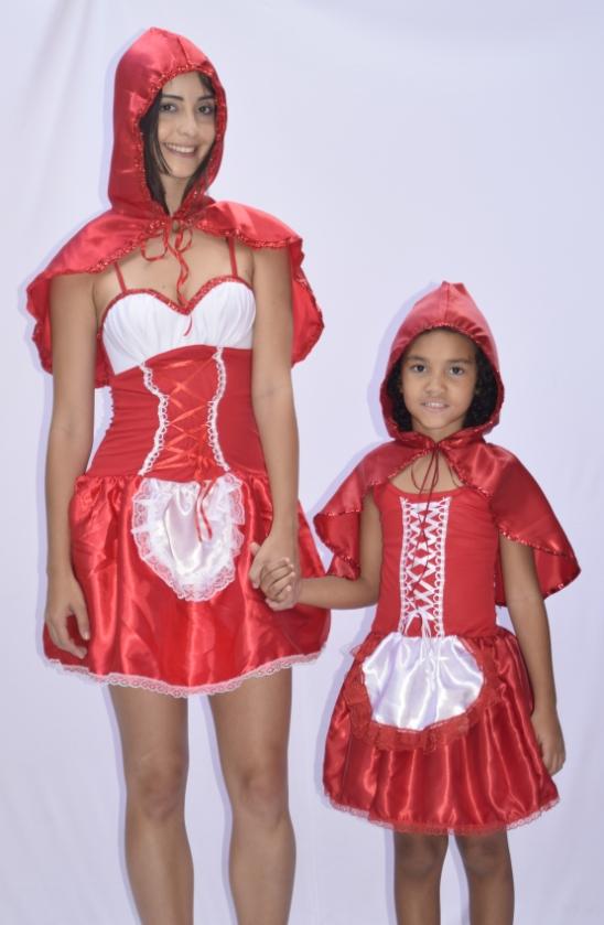 Fantasia Chapeuzinho Vermelho - Adulto Festa Fantasia carnaval