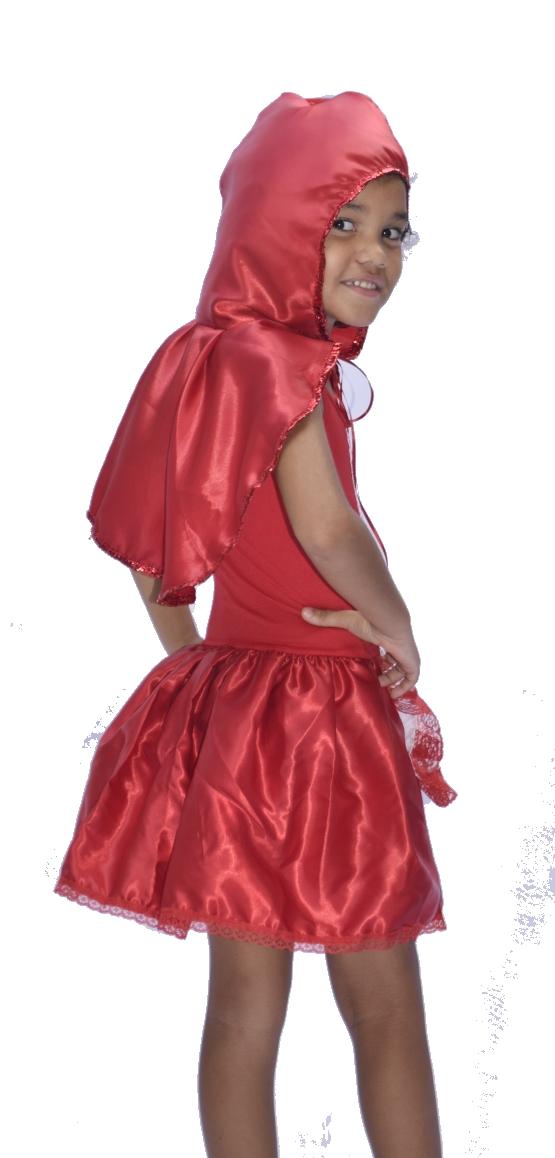 Fantasia Chapeuzinho Vermelho - Infantil fantasia para festa carnaval point da dança