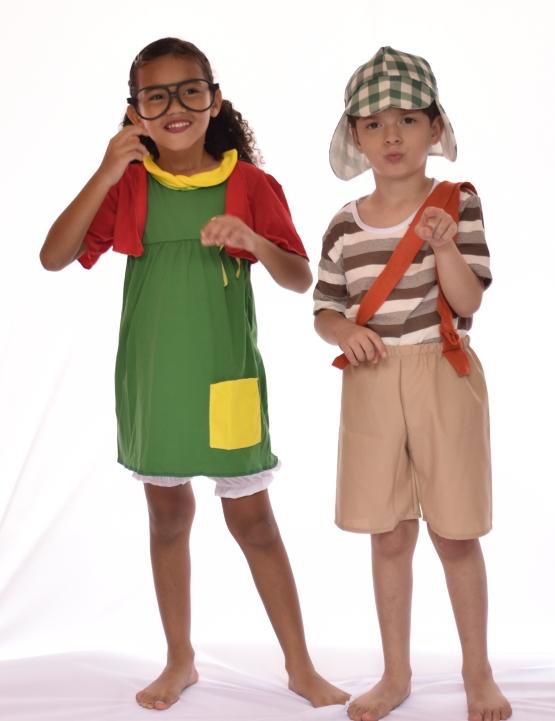 Fantasia Chiquinha Infantil - Turma Do Chaves - Fantasia para Festa carnaval - Point da Dança