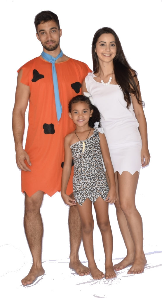 Fantasia Fred Flintstone Adulto - point da dança - fantasia para festa carnaval