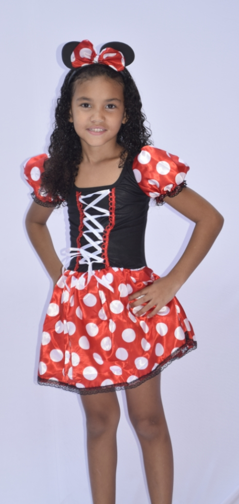 Fantasia Minnie Mouse Turma do Mickey - Infantil - Point Da Dança