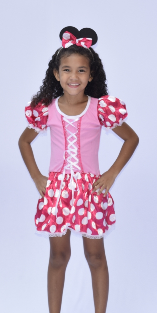 Fantasia Minnie Mouse Turma do Mickey - Infantil - Point Da Dança