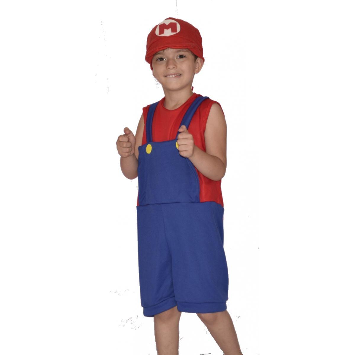 Fantasia Super Mário Infantil Masculina