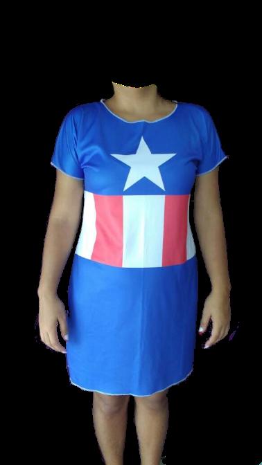 Vestido Capitã América