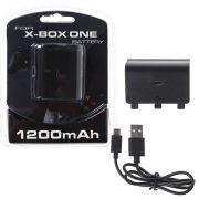 Bateria Controle Xbox One Recarregavel + Cabo Usb 1200mah