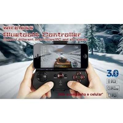 Joystick Controle Bluetooth Iphone 4 5 6 Samsung Galaxy Motorola Lg Sony