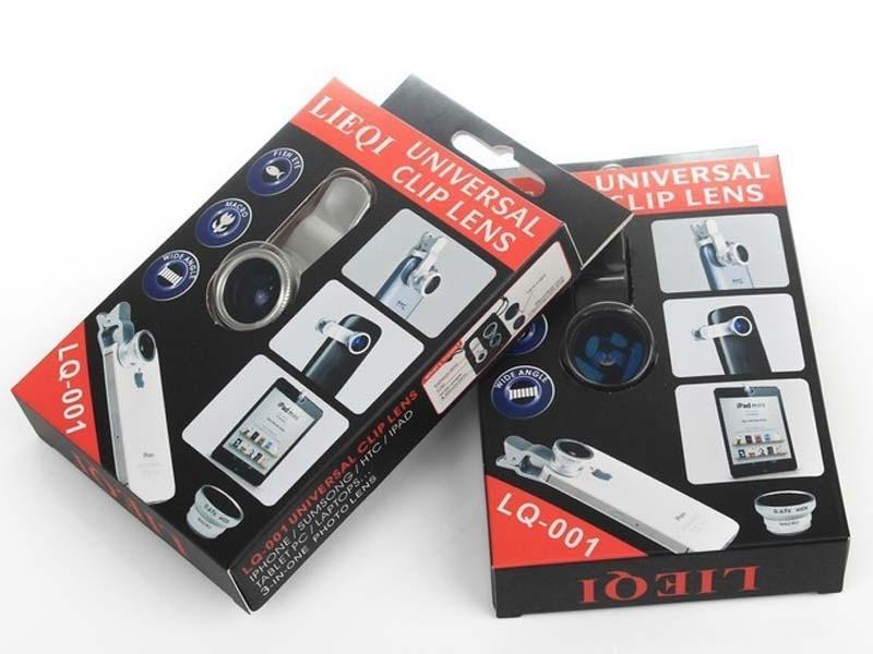 Kit Lente Olho de Peixe 3x1 Celular Iphone Samsung Galaxy Nokia Motorola Sony Lg Universal
