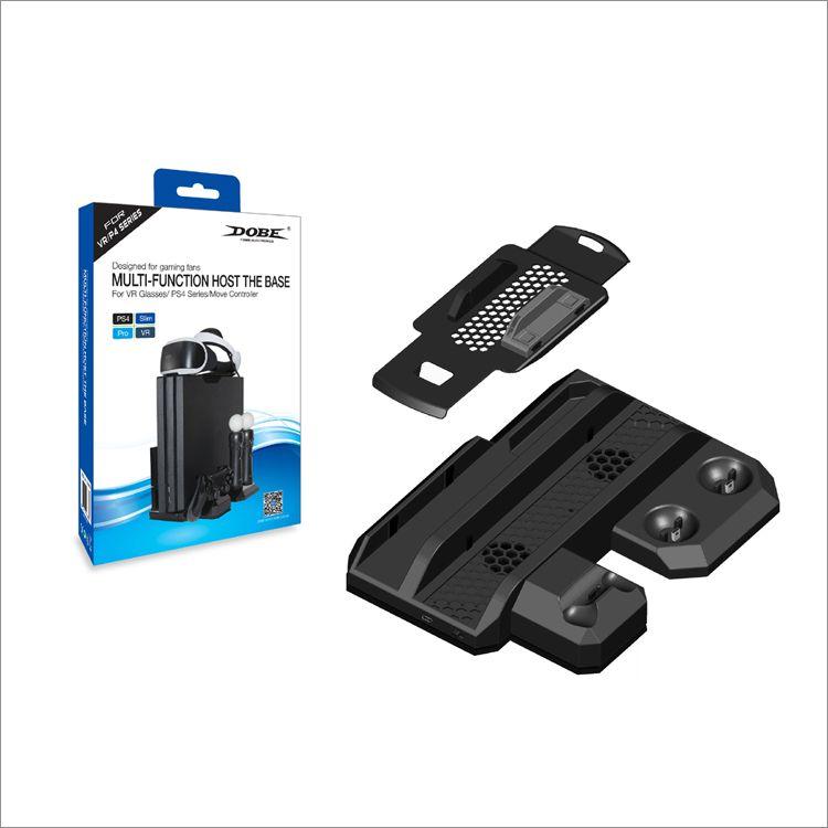 Base Multifuncional Ps4 Pro Slim Fat Cooler E Carregadora 5x1 para Playstation 4
