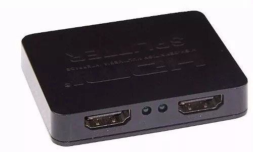 Splitter Duplicador De Tela Duas Tv Monitor Distribuidor Hdmi 1x2 4k