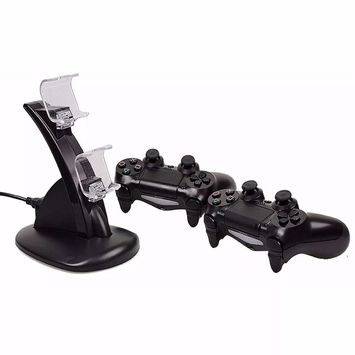 Suporte Carregador Ps4 Joystick Duplo Controle Dualshock 4 Playstation 4