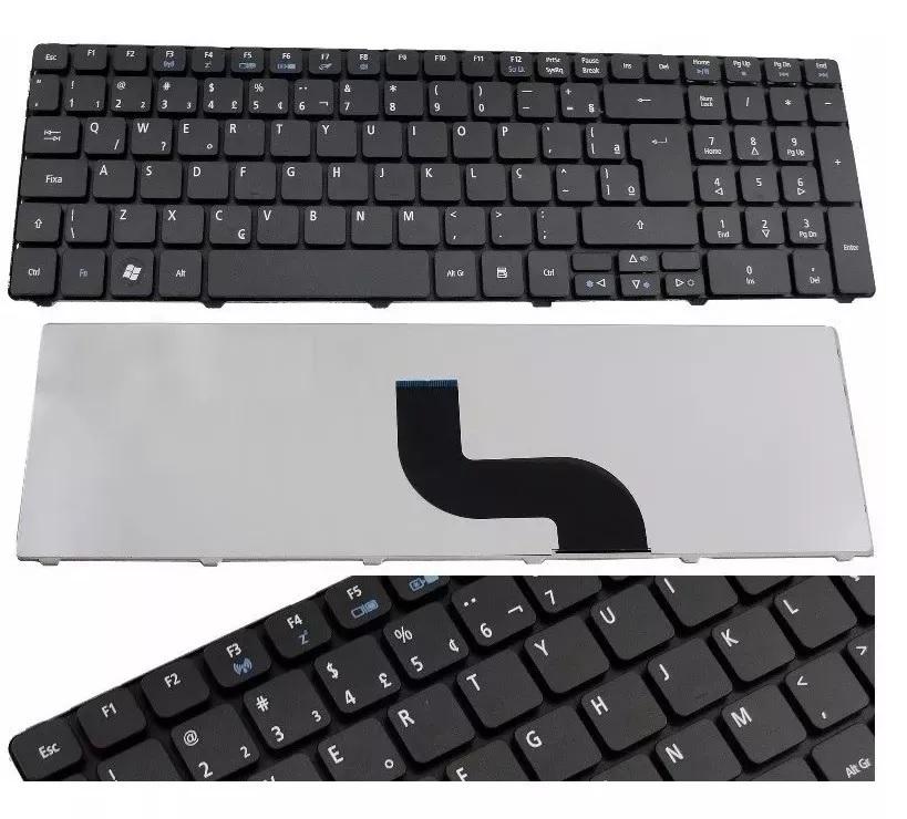 Teclado Acer 5251 5410 5538 5550 5741 5810 7741 PK130C93A00 MP-09B23U4-6983 NSK-ALC1D BR Ç