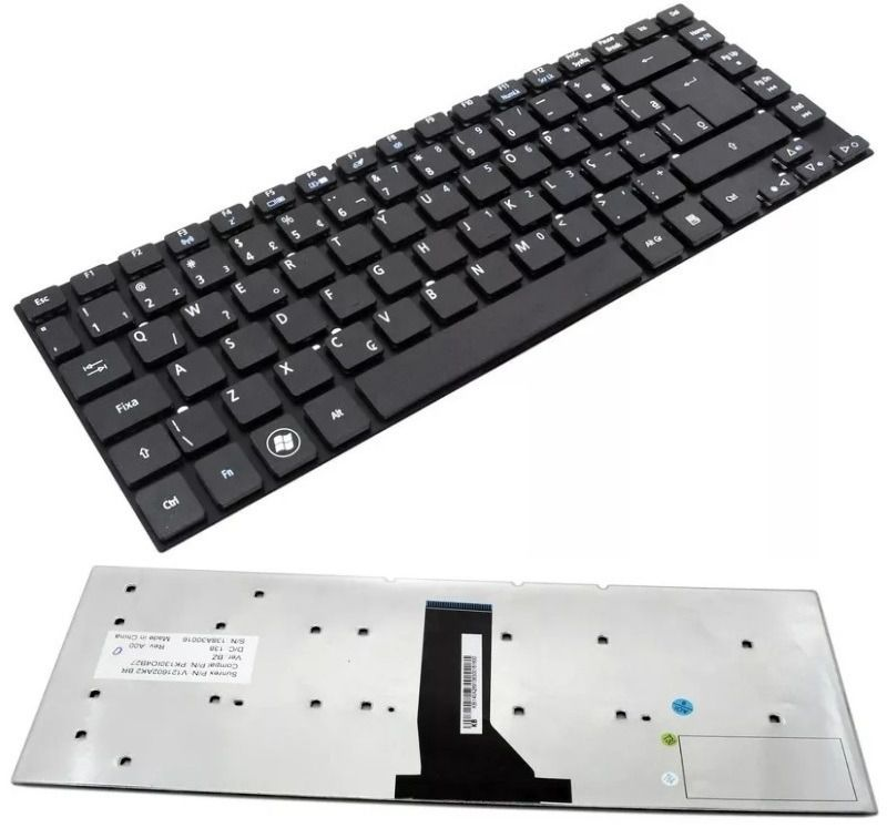 Teclado do Notebook Acer Aspire V3-431 V3-471 V3-471G E5-411 E5-471 E51-411 ES1-511 ES1-421 ES1-411 MP-10K26PA-6961 MP-10K26PA-9209W